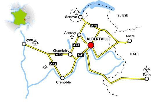 Localisation du Dôme Théâtre d'Albertville