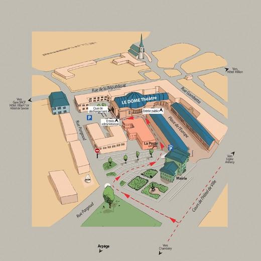 Plan d'Accès au Dôme Théâtre